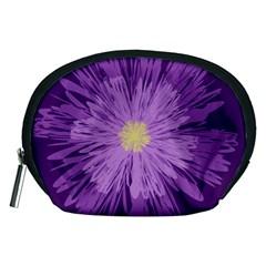 Purple Flower Floral Purple Flowers Accessory Pouches (Medium)