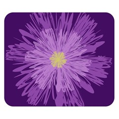 Purple Flower Floral Purple Flowers Double Sided Flano Blanket (small)