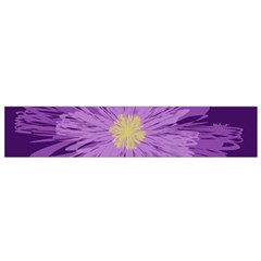 Purple Flower Floral Purple Flowers Flano Scarf (small)