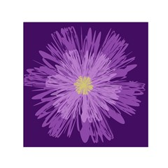 Purple Flower Floral Purple Flowers Small Satin Scarf (square)