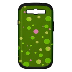 Decorative Dots Pattern Samsung Galaxy S Iii Hardshell Case (pc+silicone)
