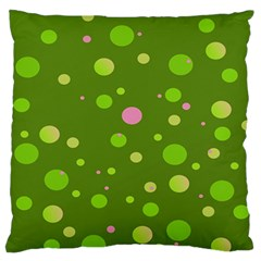 Decorative dots pattern Large Flano Cushion Case (One Side)