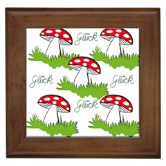 Mushroom Luck Fly Agaric Lucky Guy Framed Tiles
