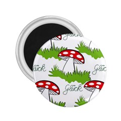 Mushroom Luck Fly Agaric Lucky Guy 2 25  Magnets