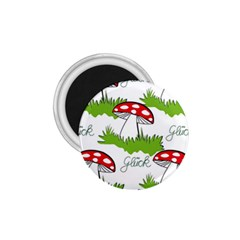 Mushroom Luck Fly Agaric Lucky Guy 1 75  Magnets