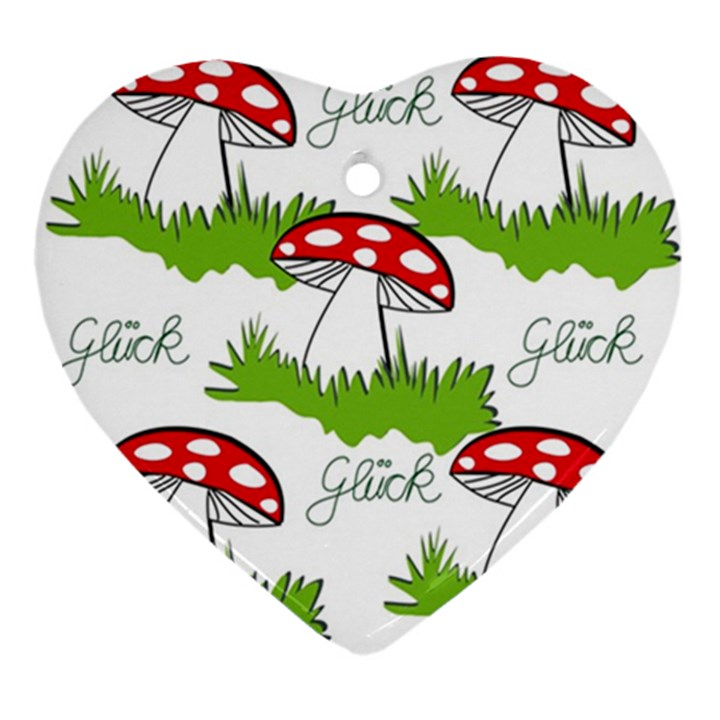 Mushroom Luck Fly Agaric Lucky Guy Ornament (Heart)
