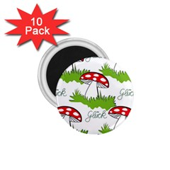 Mushroom Luck Fly Agaric Lucky Guy 1 75  Magnets (10 Pack)