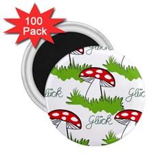 Mushroom Luck Fly Agaric Lucky Guy 2.25  Magnets (100 pack)
