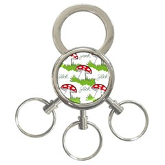 Mushroom Luck Fly Agaric Lucky Guy 3 Ring Key Chains