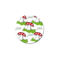 Mushroom Luck Fly Agaric Lucky Guy Golf Ball Marker (10 pack)
