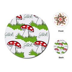 Mushroom Luck Fly Agaric Lucky Guy Playing Cards (Round)
