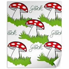 Mushroom Luck Fly Agaric Lucky Guy Canvas 16  x 20