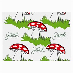 Mushroom Luck Fly Agaric Lucky Guy Large Glasses Cloth (2-Side)