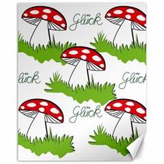Mushroom Luck Fly Agaric Lucky Guy Canvas 11  x 14