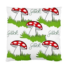 Mushroom Luck Fly Agaric Lucky Guy Standard Cushion Case (two Sides)