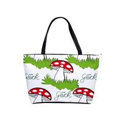 Mushroom Luck Fly Agaric Lucky Guy Shoulder Handbags