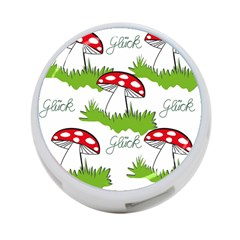 Mushroom Luck Fly Agaric Lucky Guy 4-Port USB Hub (One Side)