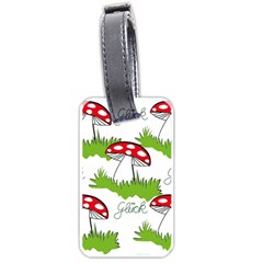 Mushroom Luck Fly Agaric Lucky Guy Luggage Tags (One Side)