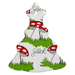 Mushroom Luck Fly Agaric Lucky Guy Ornament (Christmas Tree)
