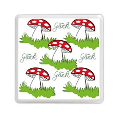 Mushroom Luck Fly Agaric Lucky Guy Memory Card Reader (Square)
