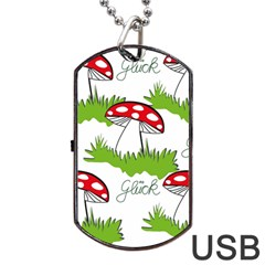 Mushroom Luck Fly Agaric Lucky Guy Dog Tag USB Flash (Two Sides)
