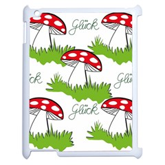 Mushroom Luck Fly Agaric Lucky Guy Apple Ipad 2 Case (white)