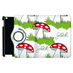 Mushroom Luck Fly Agaric Lucky Guy Apple Ipad 3/4 Flip 360 Case
