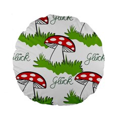 Mushroom Luck Fly Agaric Lucky Guy Standard 15  Premium Round Cushions