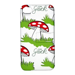 Mushroom Luck Fly Agaric Lucky Guy Apple iPhone 4/4S Hardshell Case with Stand