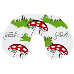 Mushroom Luck Fly Agaric Lucky Guy Travel Neck Pillows