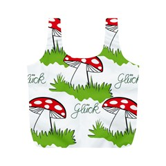 Mushroom Luck Fly Agaric Lucky Guy Full Print Recycle Bags (m)