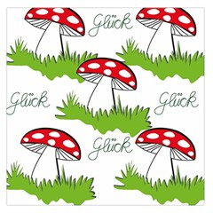 Mushroom Luck Fly Agaric Lucky Guy Large Satin Scarf (square)