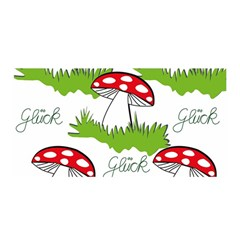 Mushroom Luck Fly Agaric Lucky Guy Satin Wrap
