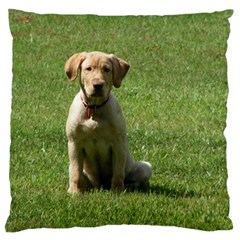 5 Puppy Yl Large Flano Cushion Case (Two Sides)