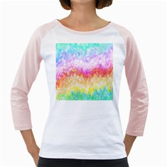 Rainbow Pontilism Background Girly Raglans