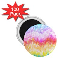 Rainbow Pontilism Background 1.75  Magnets (100 pack)