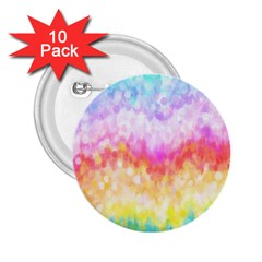 Rainbow Pontilism Background 2 25  Buttons (10 Pack)