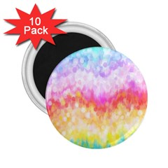 Rainbow Pontilism Background 2 25  Magnets (10 Pack)