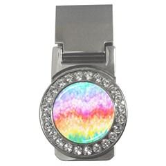 Rainbow Pontilism Background Money Clips (cz)