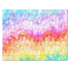 Rainbow Pontilism Background Rectangular Jigsaw Puzzl