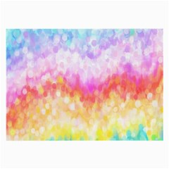 Rainbow Pontilism Background Large Glasses Cloth