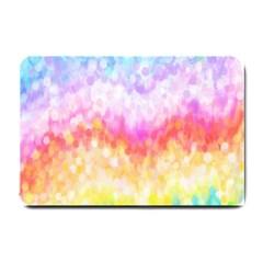 Rainbow Pontilism Background Small Doormat