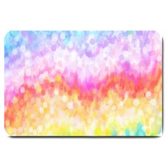 Rainbow Pontilism Background Large Doormat