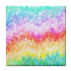 Rainbow Pontilism Background Face Towel