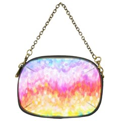 Rainbow Pontilism Background Chain Purses (one Side)