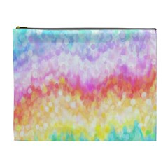 Rainbow Pontilism Background Cosmetic Bag (xl)