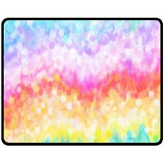 Rainbow Pontilism Background Fleece Blanket (medium)