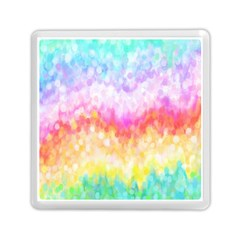 Rainbow Pontilism Background Memory Card Reader (square)