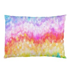 Rainbow Pontilism Background Pillow Case (two Sides)