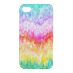 Rainbow Pontilism Background Apple Iphone 4/4s Hardshell Case